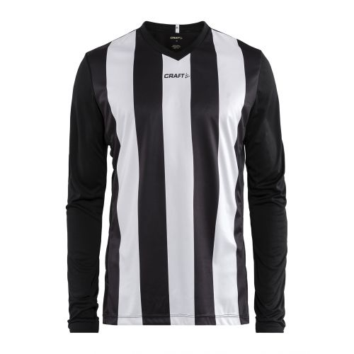 Craft Progress Jersey Stripe LS - Noir & Blanc