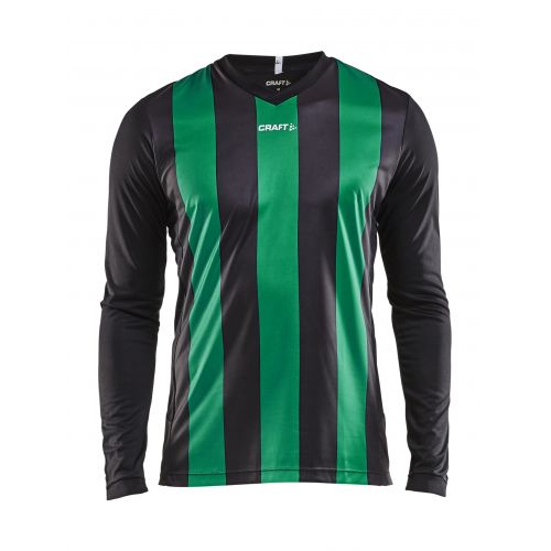 Craft Progress Jersey Stripe LS - Noir & Vert