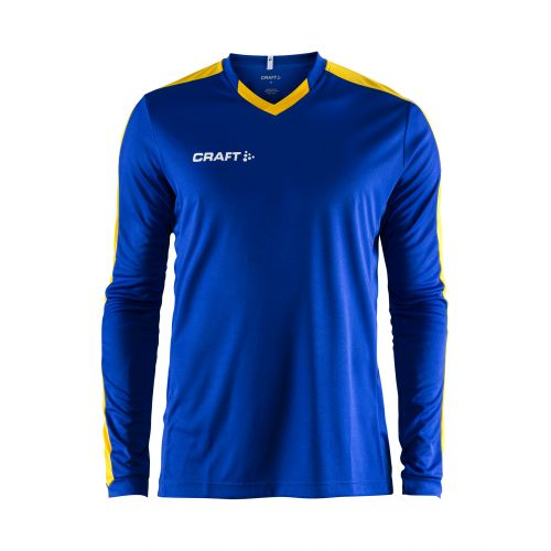 Craft Progress Jersey Contrast LS - Cobalt & Jaune