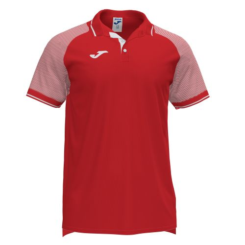 Joma Essential II Polo - Rouge & Blanc