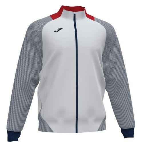Joma Essential II Veste - Blanc, Rouge & Bleu Marine Foncé