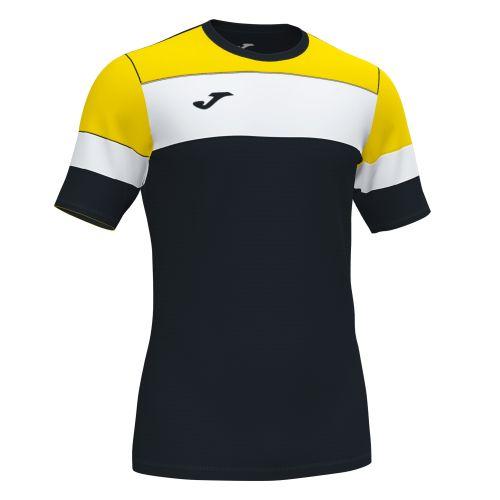Joma Crew IV T-Shirt - Noir, Jaune & Blanc
