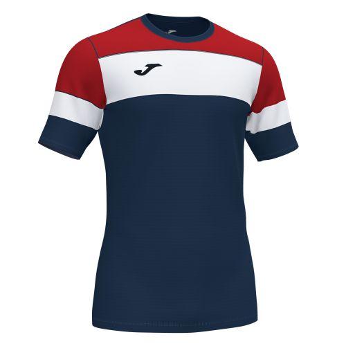 Joma Crew IV T-Shirt - Marine Foncé, Rouge & Blanc