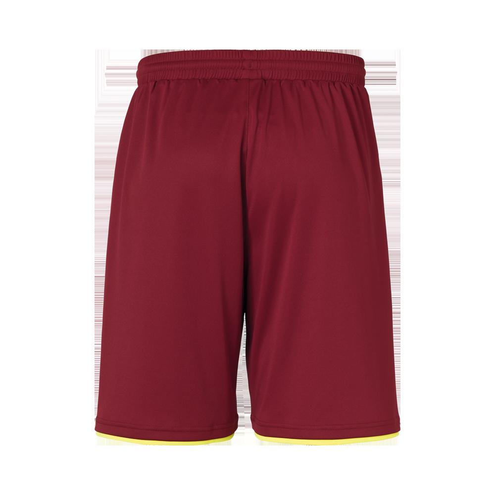 Uhlsport Club Shorts - Bordeaux & Jaune Fluo