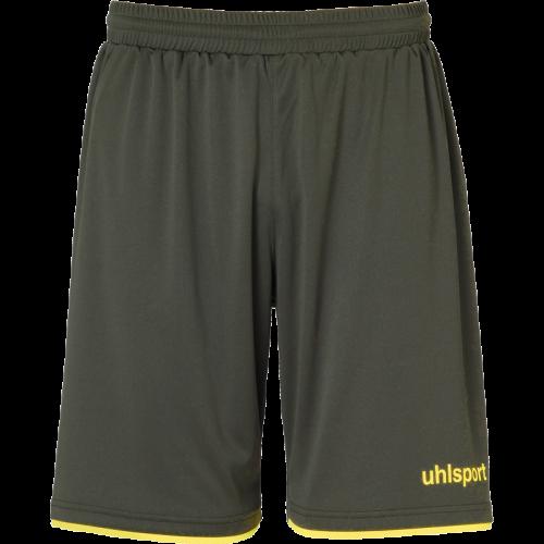 Uhlsport Club Shorts - Olive & Jaune Citron