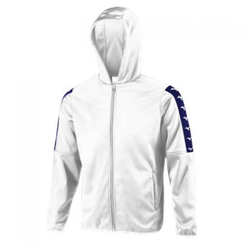 Mizuno Nara Bonded Hooded Jacket - Blanc