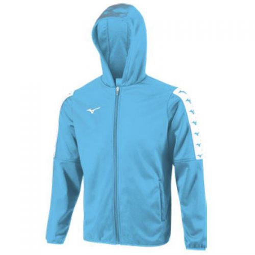 Mizuno Nara Bonded Hooded Jacket - Bleu Ciel