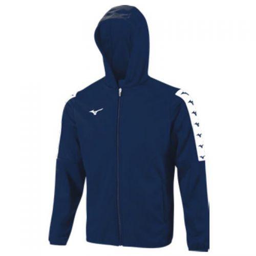 Mizuno Nara Bonded Hooded Jacket - Bleu Marine