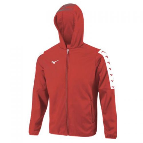 Mizuno Nara Bonded Hooded Jacket - Rouge