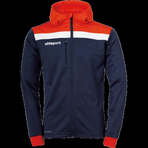 Uhlsport Offense 23 Multi Hood Jacket - Marine, Rouge & Blanc
