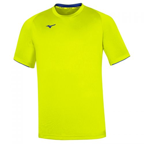 Mizuno Core Short Sleeve Tee - Jaune & Royal