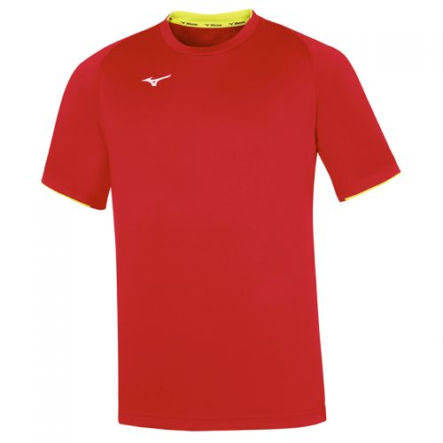 Mizuno Core Short Sleeve Tee - Rouge & Jaune