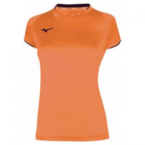 Mizuno Core Short Sleeve Tee - Femme - Orange & Noir