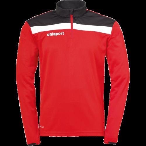 Uhlsport Offense 23 1/4 Zip Top - Rouge, Noir & Blanc